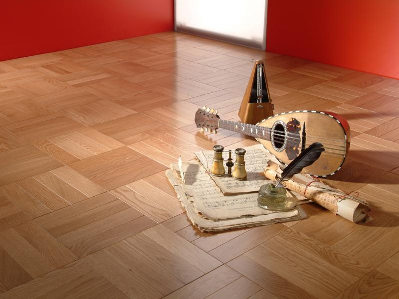 Rose oak hardwood block flooring