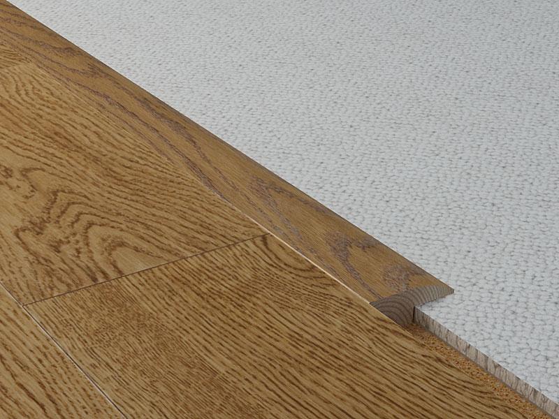 Carpet reducer moldings coswick hardwood floors for Jonction entre parquet et carrelage