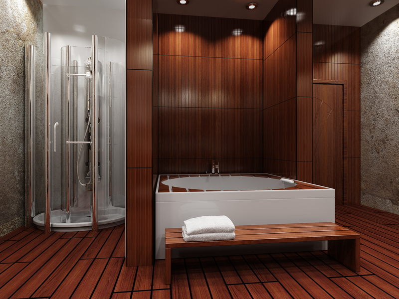 Is wood flooring in the bathroom a good idea coswick for Hardwood floor in bathroom
